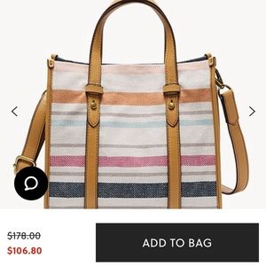 Fossil Leather Kingston Tote